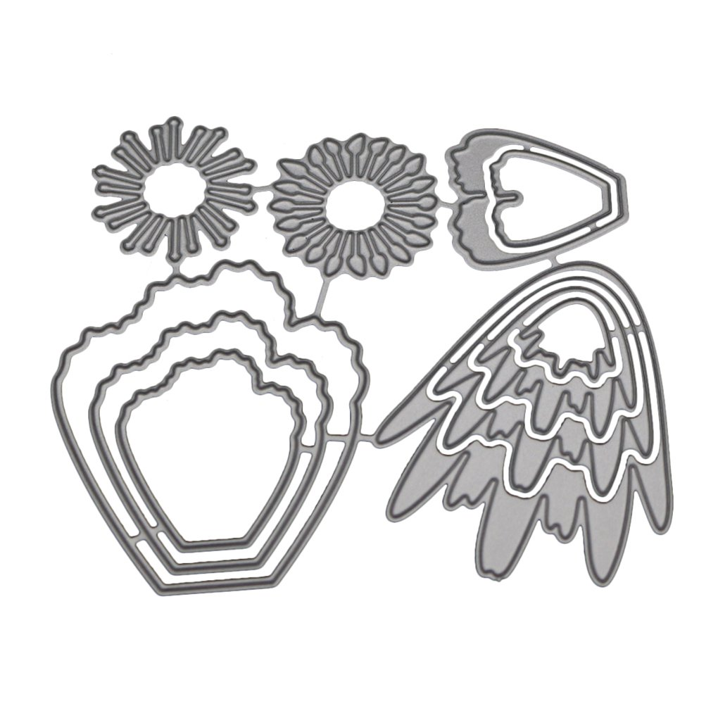 fish Petali taglio di metalli Stampi Stencil Telaio per DIY Scrapbooking Photo Album Decorative goffratura Carte di carta