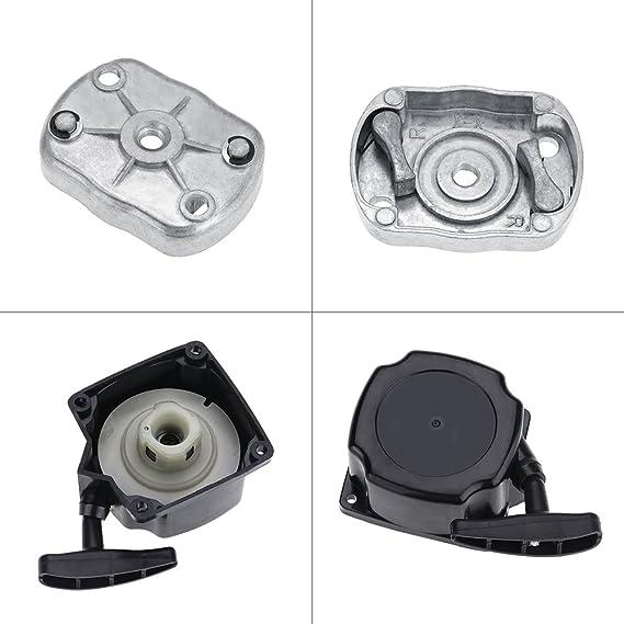 Fdit Desbrozadora Retroceso Motor Arranque Tire de Placa de Cortador Cortacésped Scooter Jardín Césped Accessories para 520 430 Socialme-EU: Amazon.es: ...