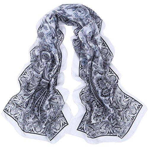 Gotd Women Fashion Sheer Long Soft Chiffon Scarf Wrap Shawl Stole Scarves (C)