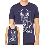 Venom We All Have Our Demons T-shirt Marvel Spiderman Tank Top Gym Work Out