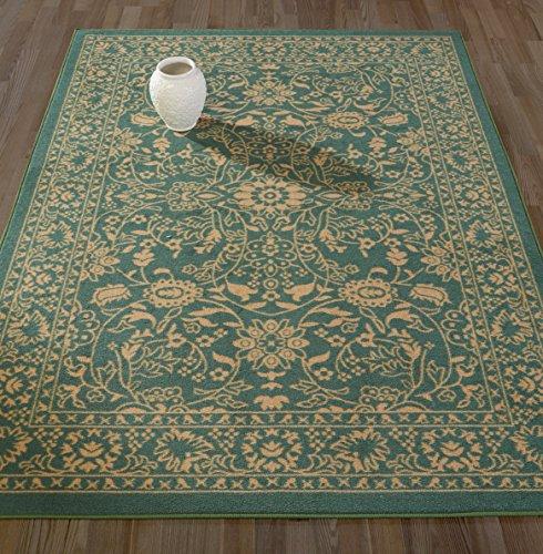 Diagona Designs Contemporary Oriental Mahal Design Non-Slip Kitchen/Bathroom / Living Room Area Rug, 5'0