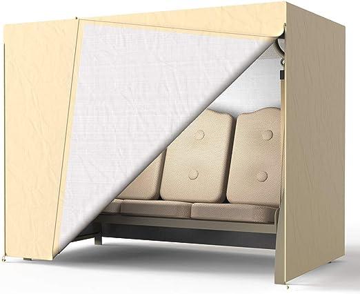 78Henstridge - Funda para columpio de 3 plazas, impermeable, resistente al polvo, transpirable, funda de hamaca para muebles, 220 x 170 x 125 cm, beige: Amazon.es: Jardín
