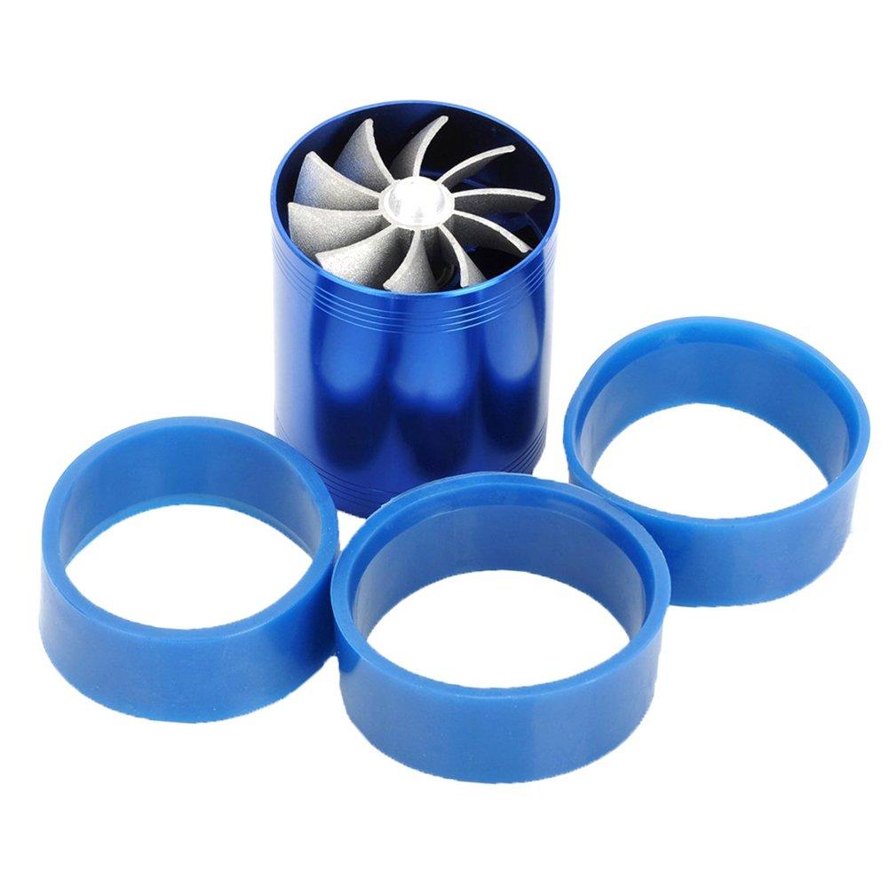 rokoo Supercharger Power Lufteinlass Turbonator Dual Fan Turbine Gas Legierung Fuel Saver 1dz4sf7yk3rt5eu9