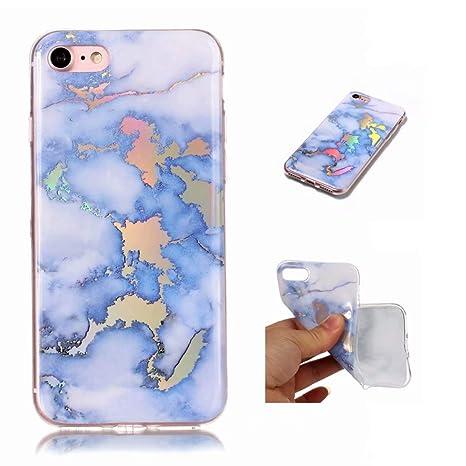 Funda iPhone 7/iPhone 8 Silicona mármol TPU Super Delgado Suave Carcasa de telefono Protección por JOYTAG