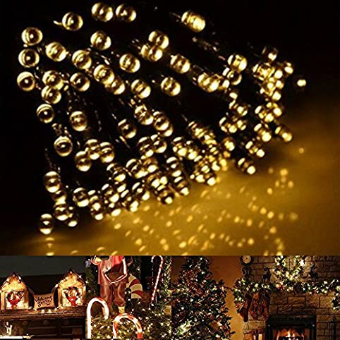 200led solar outdoor christmas string lights xmas decorations warm white waterproof