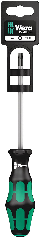 Wera 05100063001 Hang-Tag Screwdriver for TORX Screws 367 SB 1 x TX 25x100mm, Silver, 25
