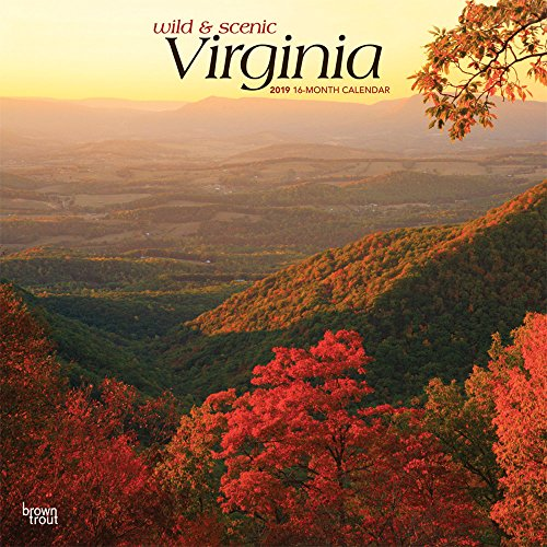Virginia, Wild & Scenic 2019 12 x 12 Inch Monthly Square Wall Calendar, USA United States of America Southeast State Nature (Multilingual Edition)