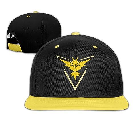 Hittings Pokemon Go Team Valor Moltres Outdoor Sandwich Peaked Caps Hats for Unisex Black