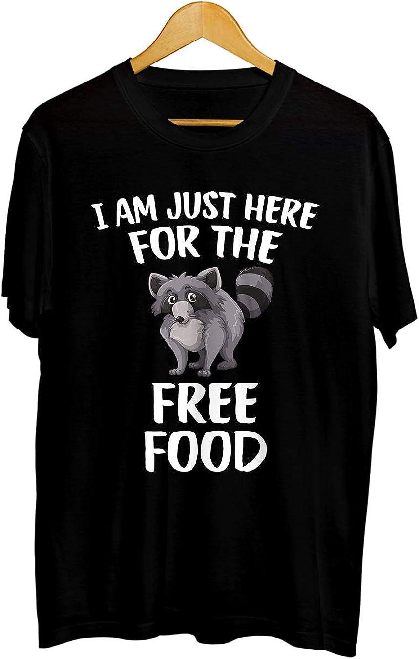 TSHIRTAMAZING Raccoon Trash Panda T Shirt - Just here for The Free Food T-Shirt