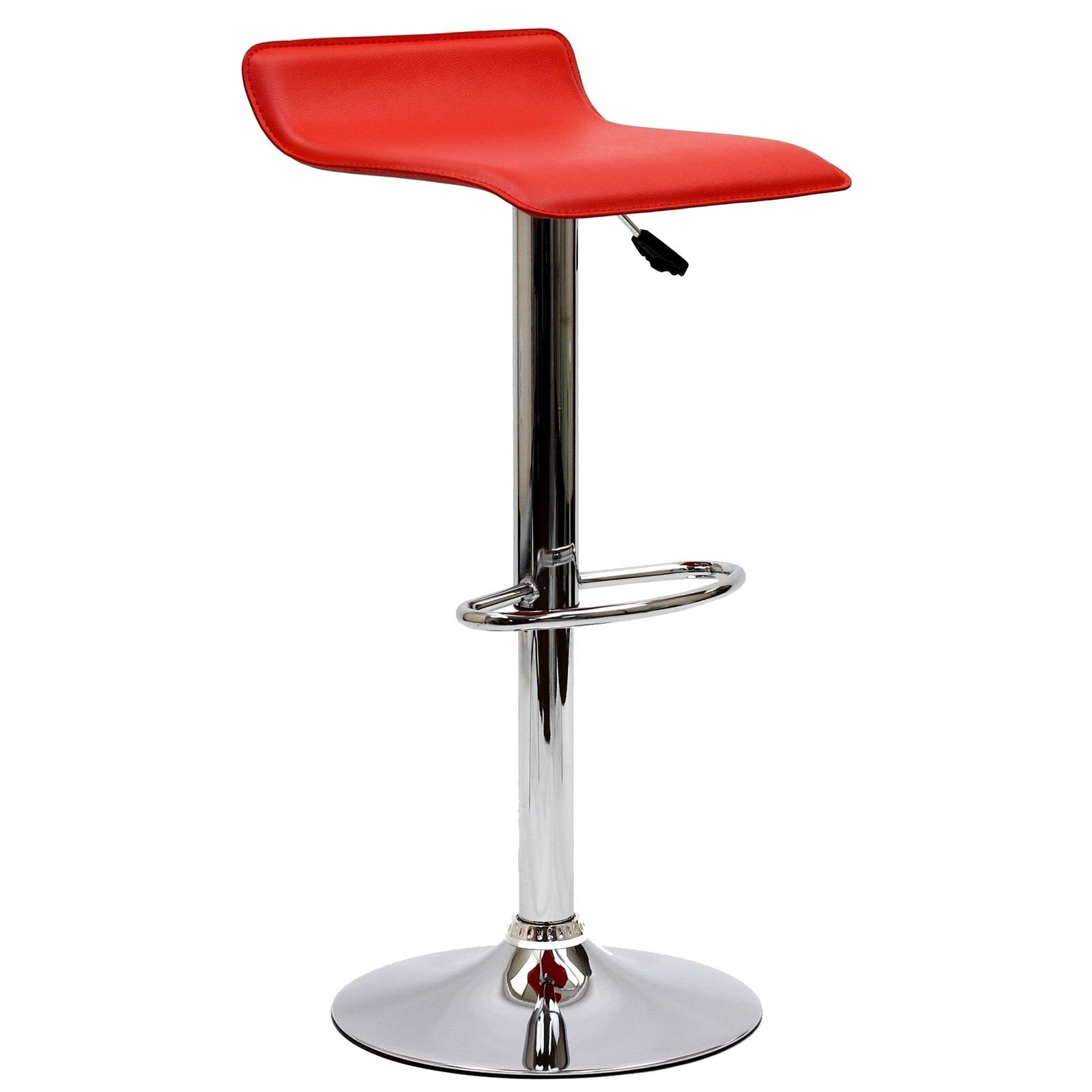 Modway Gloria Retro Modern Faux Leather Bar Stools in Red by Modway (Image #2)