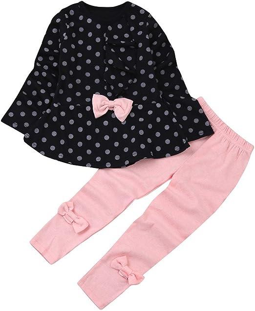 3Pcs Set Baby Girls Bodysuit Pants Headbands Heart Shaped Polka Dot Outfits Suit