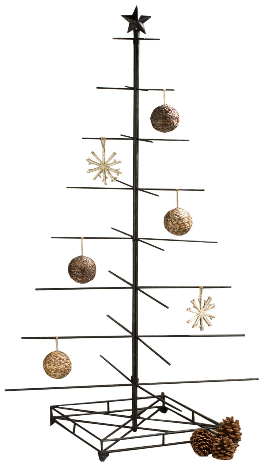 Amazon.com: Tall Ornament Christmas Tree Display - Industrial Style ...