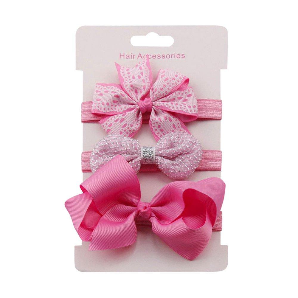 4PCS//Set Baby Haarband Stirnband Haarschmuck Mädchen Jungen Bow Flower Headwear