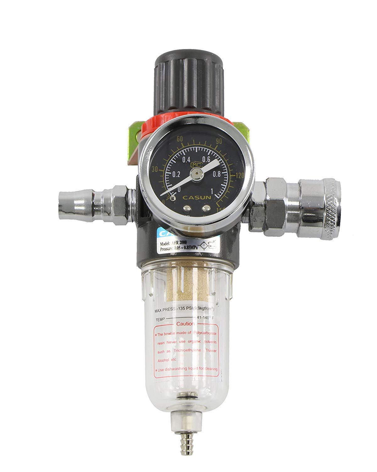 Sutekus Water and Oil Separator for Air Line 1//4 BSP Inlet and Outlet Air Compressor Regulator