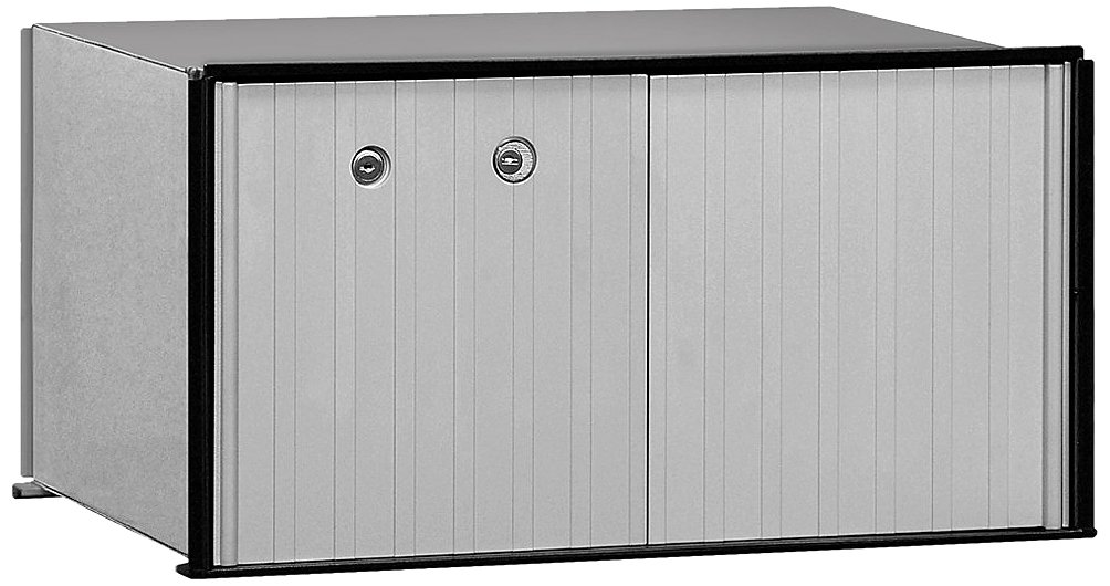 Salsbury Industries 2270P Aluminum Parcel Locker with Master Lock, 1 Door, Private Access, Aluminum with Black Trim