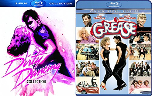 Grease John Travolta Musical & Dirty Dancing Patrick Swayze Blu Ray + Havana Nights Collection 3 movie Set Special Edition