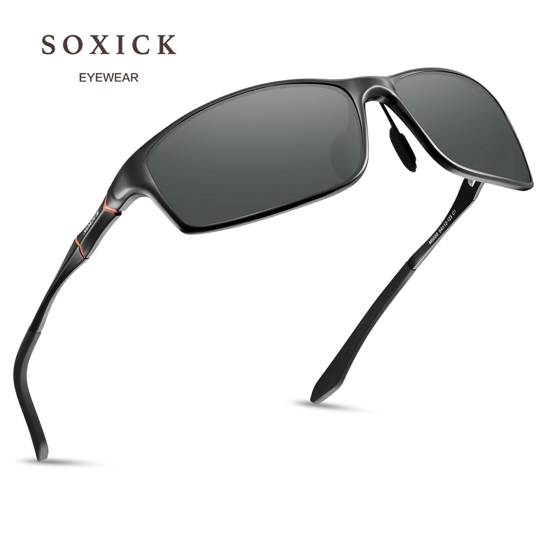 b89a681ca63 Amazon.com  Polarized Sports Sunglasses For Men Fishing Driving Metal Retro  Sunglasses  Clothing