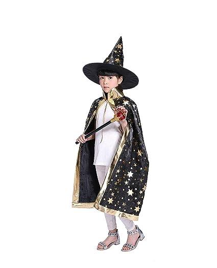 Costumi di Halloween strega guidata mantello con cappello per bambini 0653dd6a8230