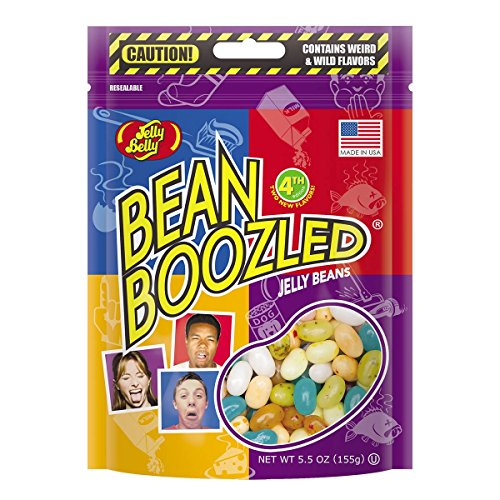 Jelly Belly BeanBoozled Jelly Beans 5.5 oz Pouch bag (4th edition) (5.5 oz (1 Bag)) (Jelly Beans Weird Flavors)