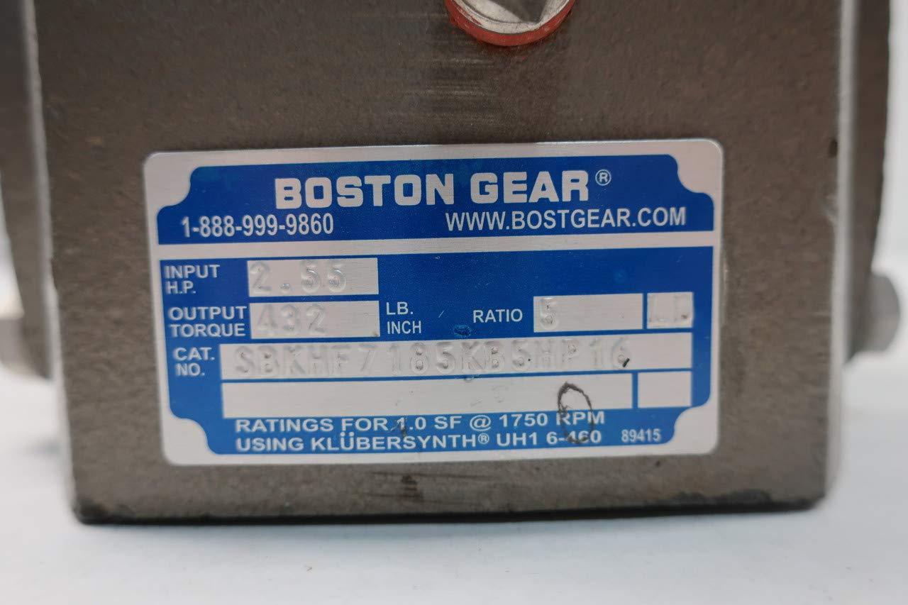 BOSTON GEAR SBKHF7185KB5HP16 BOST-KLEEN 5:1 Right Angle Gear Reducer