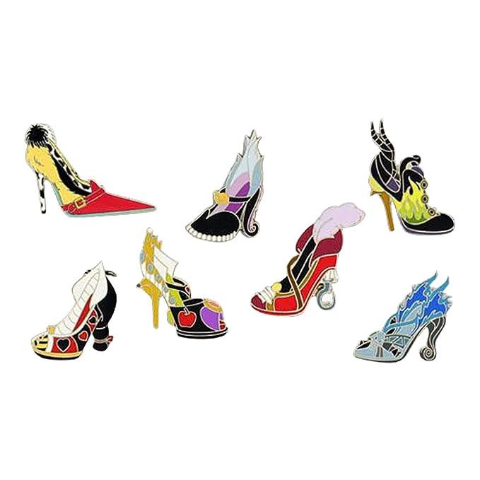 Disney Villains High Heel Shoes Booster 7 Pin Set