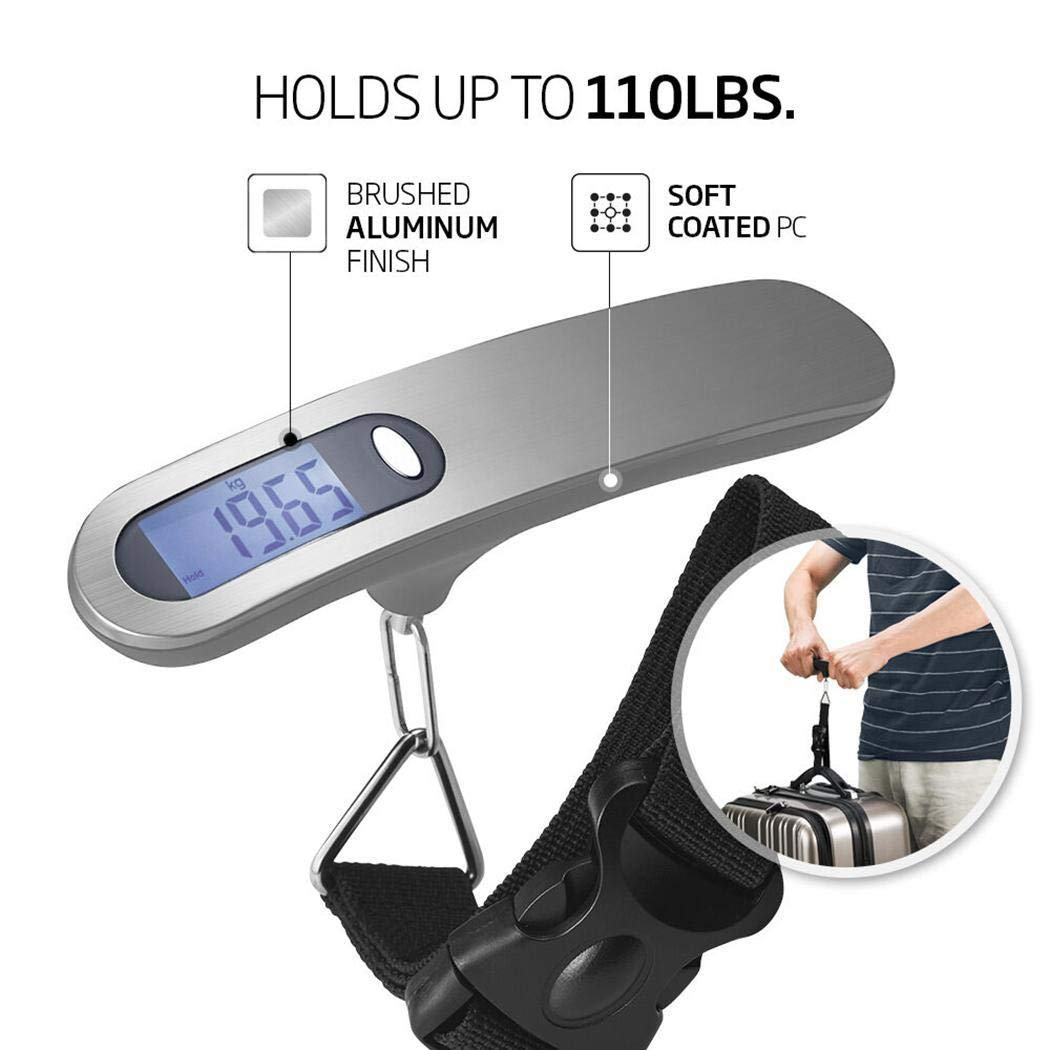 Breven Portable 50Kg Stainless Steel Hand Luggage Scale Electronic Scale Light Meters