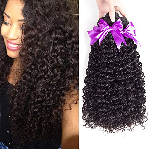 Malaysian Virgin Curly Hair Weave 3 Bundles (16 18 20) 100% 8A Unprocessed Malaysian Kinky Curly Human Hair Weft Extensions Natural Black Color
