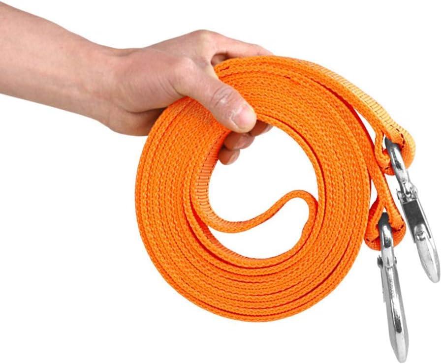 16,4 pies 11000 LB cintur/ón de Remolque con Gancho Correa de Remolque de Alta Resistencia 4x4 5 m 5 t Cuerda de Remolque de autom/óvil -Naranja