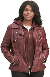 33ca544bbbcd5 Wilsons Leather Womens Plus Size Marc New York Cycle Fauxleather Jacket W  Cable