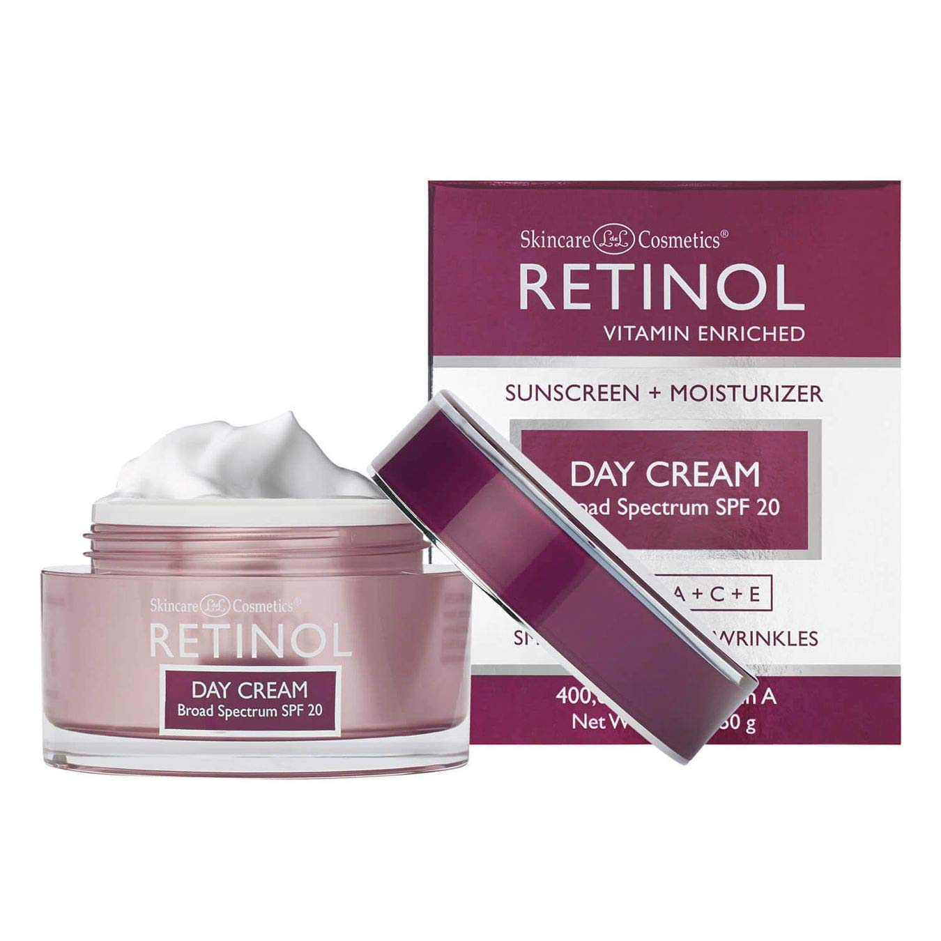 Retinol Day Cream Broad Spectrum SPF 20 – Protects Against Harmful Effects of UVA & UVB