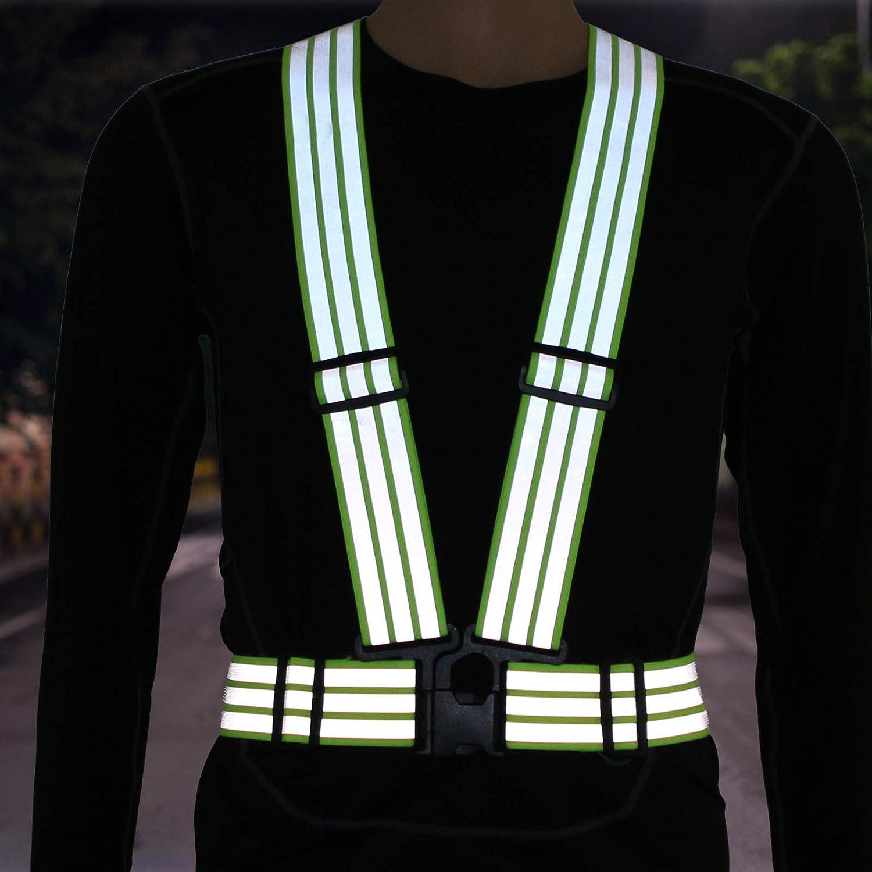 Sicherheitsweste Reflexstreifen kleid mit Verstellbar Hüftgurt für Biker