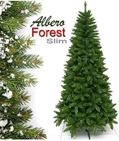 Albero Di Natale Slim 210.Albero Di Natale Slim Forest Cm 210 Rami 860 Amazon It Casa E Cucina