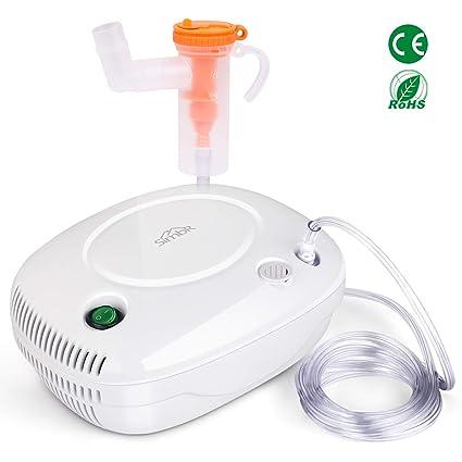 SIMBR Inhalador, Nebulizador Compresor con Boquilla y Mascarilla para Bebés y Adultos, Dispositivo Médico
