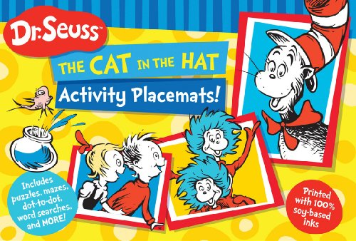 Dr. Seuss The Cat in the Hat Activity Placemats!: Includes puzzles, mazes, dot-to-dot, word searches, and more! (Dr. Seuss Activity Books)