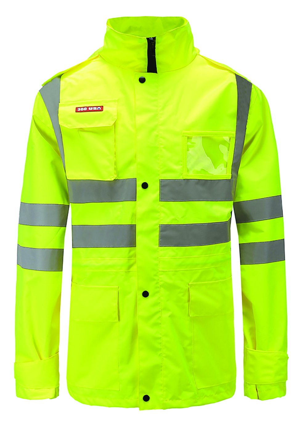 360 USA ANSI ISEA Class 2 Premium 300D Oxford Water Proof Reflective Jacket