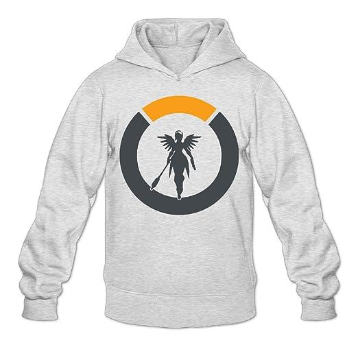 0b4b406a0b67 Men s Overwatch Mercy Logo Hooded Sweatshirt at Amazon Men s Clothing store