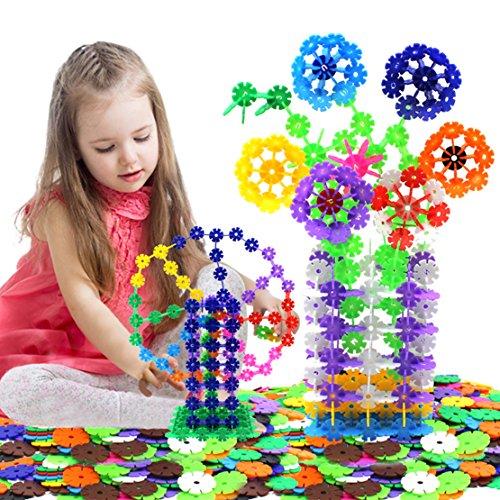 iPuzzle 1200pcs Snowflake Creative Construction Building Block Educational Toy Set