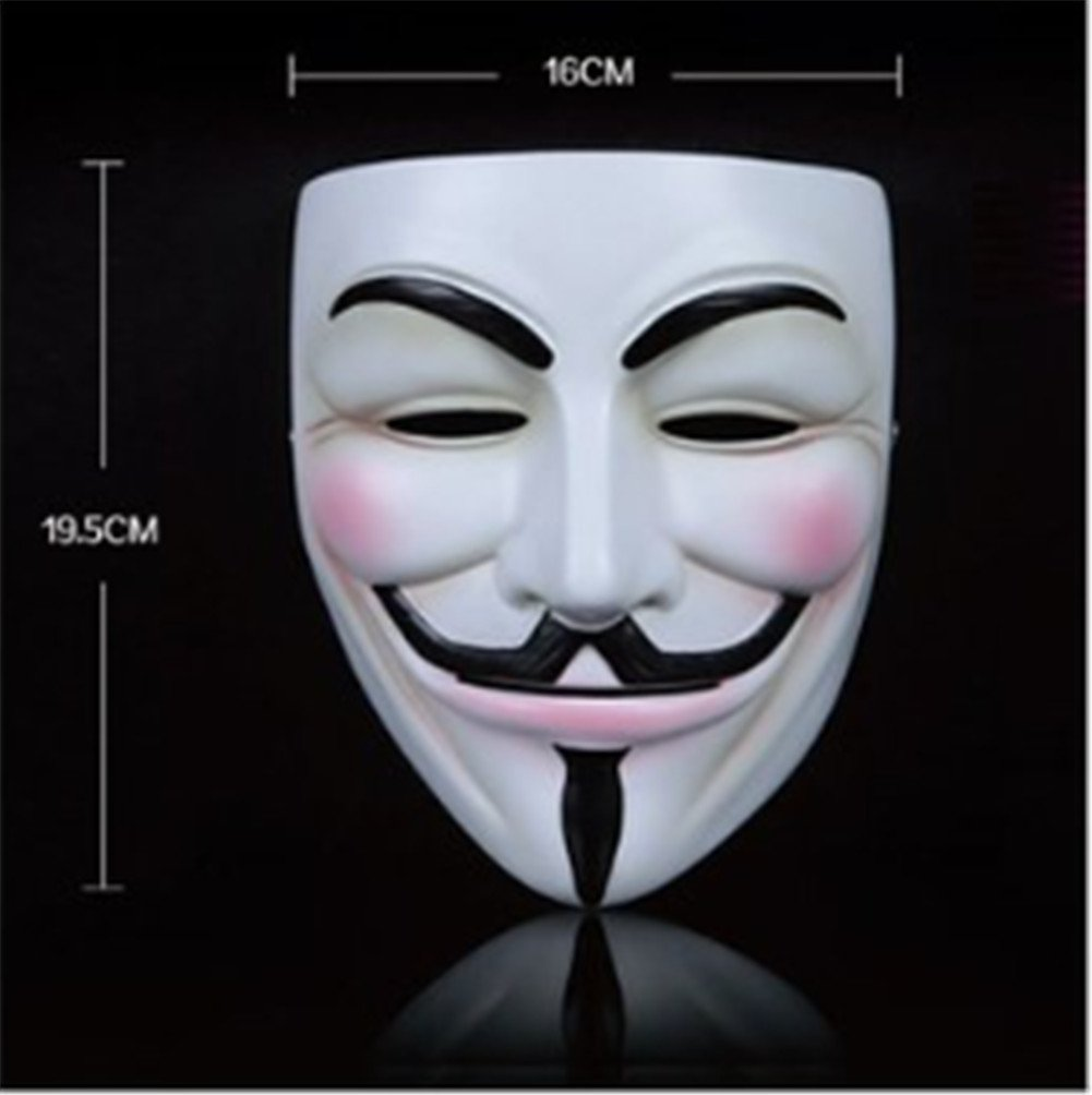 Amazon.com: Generic V for Vendetta Mask Resin Anonymous Guy Fawkes ...