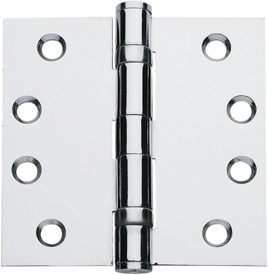 Global Door Controls 4.5 in Bright Chrome Ball Bearing Hinge x 4.5 in Set of 3