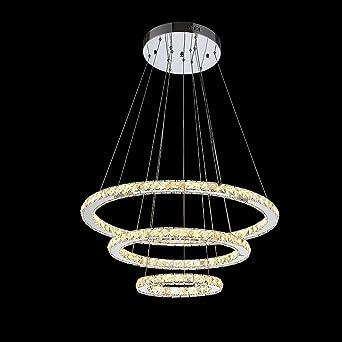 Modeen Luxuxkristallpendelleuchte Moderner Entwurf LED, Der Drei Ovale  Ringe, Hauptdecken Leuchte Unterputz