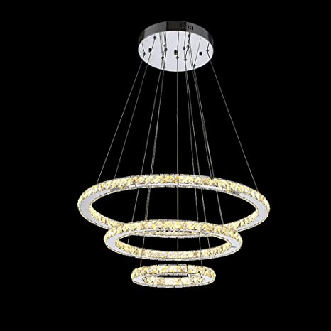 Modeen Cristal Cristal de Diseño Moderno LED Living Tres ...