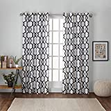 Exclusive Home Kochi Linen Blend Window Curtain Panel Pair with Grommet Top 54×108 Indigo 2 Piece Review