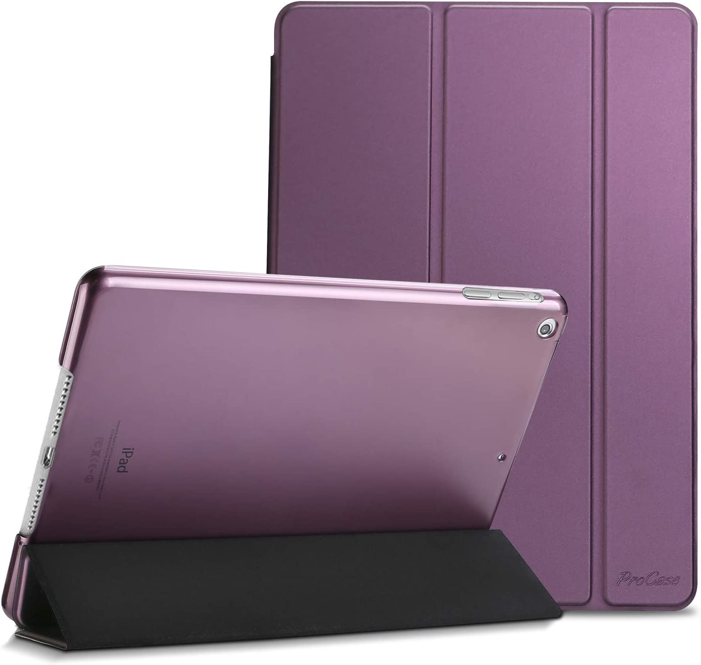 "ProCase iPad Mini 1 2 3 Case(Old Model A1432 A1490 1455), Slim Lightweight Stand Cover with Translucent Frosted Back Smart Case for 7.9"" Apple iPad Mini, Mini 2, Mini 3, with Auto Sleep/Wake –Purple"