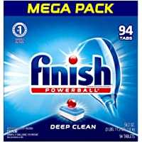 Finish - All in 1 - 94ct - Dishwasher Detergent - Powerball - Pre Wrapped Dishwashing Tablets - Dish Tabs - Fresh Scent (Packaging May Vary)