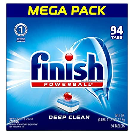 Finish   All In 1   94ct   Dishwasher Detergent   Powerball   Dishwashing Tablets   Dish Tabs   Fresh Scent (Packaging May Vary) by Finish
