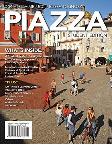 PIAZZA (New, Engaging Titles from 4LTR Press) Pdf