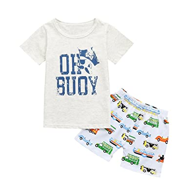 0-5 Years Old,Yamally_9R 2Pcs Outfits Set Toddler Unisex Baby Letter Pirate T Shirt Tops+Shorts