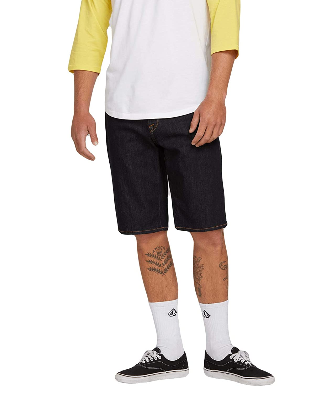 TALLA 31. Volcom Kinkade Denim Azul Pantalones Cortos De Jeans