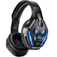 PHOINIKAS Gaming Headset for PS4, PC, Xbox one Headset with 7.1 Sound, Bluetooth Wireless Headset for Phone, Over Ear…