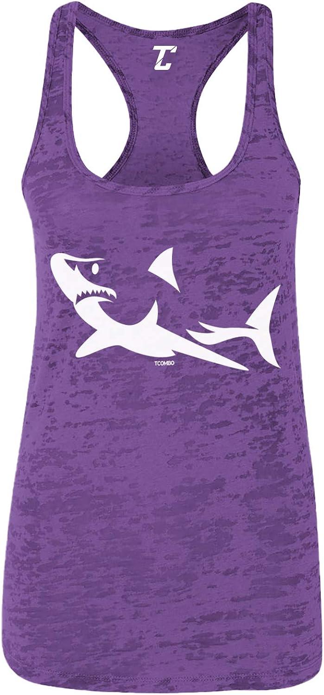 Shark Silhouette - Great White Hammerhead Women's Racerback Tank Top